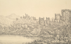 Part of Conway Castle and Wales - Ceamarvonshire